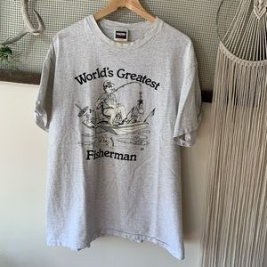 Vintage World's Greatest Fisherman Tee